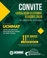 """8º ENCONTRO REGIONAL - """"LEGISLAÇÃO ELEITORAL - ELEIÇÕES 2020""""."""
