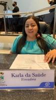 Após se recuperar da Covid-19 Karla retoma atividades no Legislativo