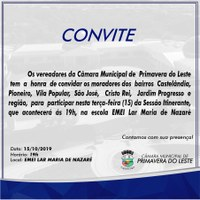 Câmara realizará sessão itinerante na região do bairro Castelândia