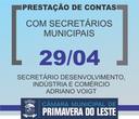 Dia 29 é a vez do Secretário de Desenvolvimento vir à Câmara