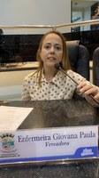 Enfermeira Giovana solicita à Prefeitura doações de cestas básicas às gestantes e lactantes em situação vulnerável