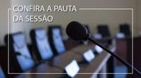 Mais de dez proposituras deverão ser analisadas pelos vereadores na sessão ordinária desta terça feira (29)