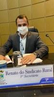 Renato do Sindicato Rural retoma atividades legislativas com projeto de sua autoria aprovado por unanimidade